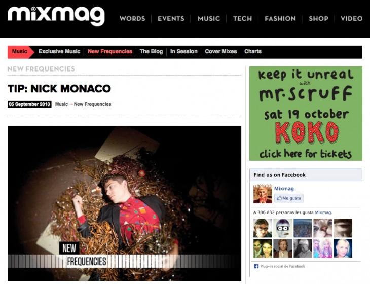Nick Monaco on Mixmag