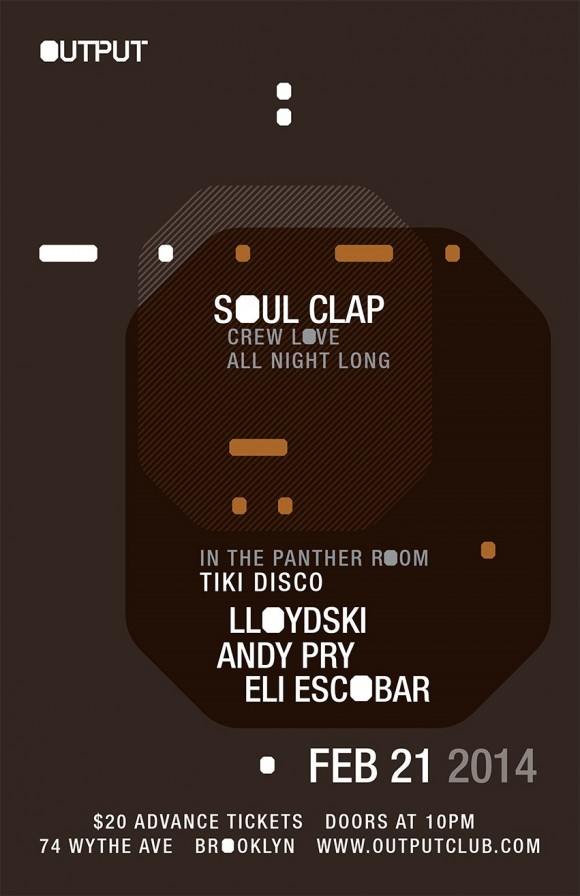 Soul Clap play BK's Output this Friday