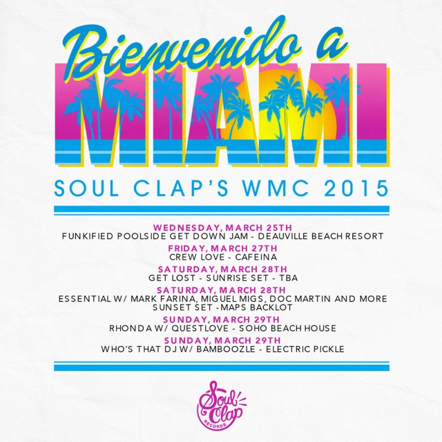 Where we'll be for Miami Week!