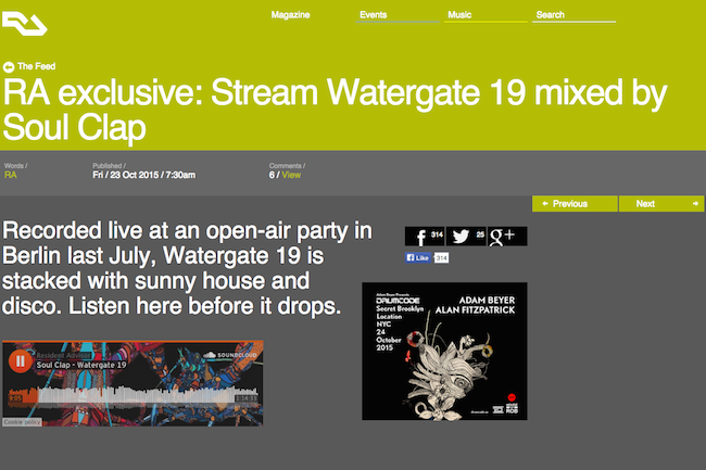 Sample our Live Mix for Watergate 19!