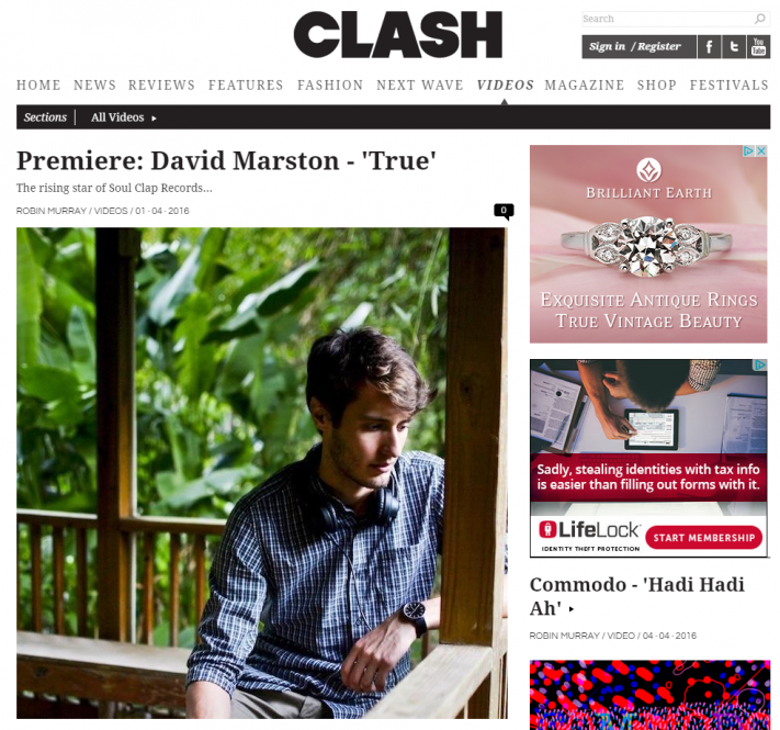 clash mag david marston true music video premiere